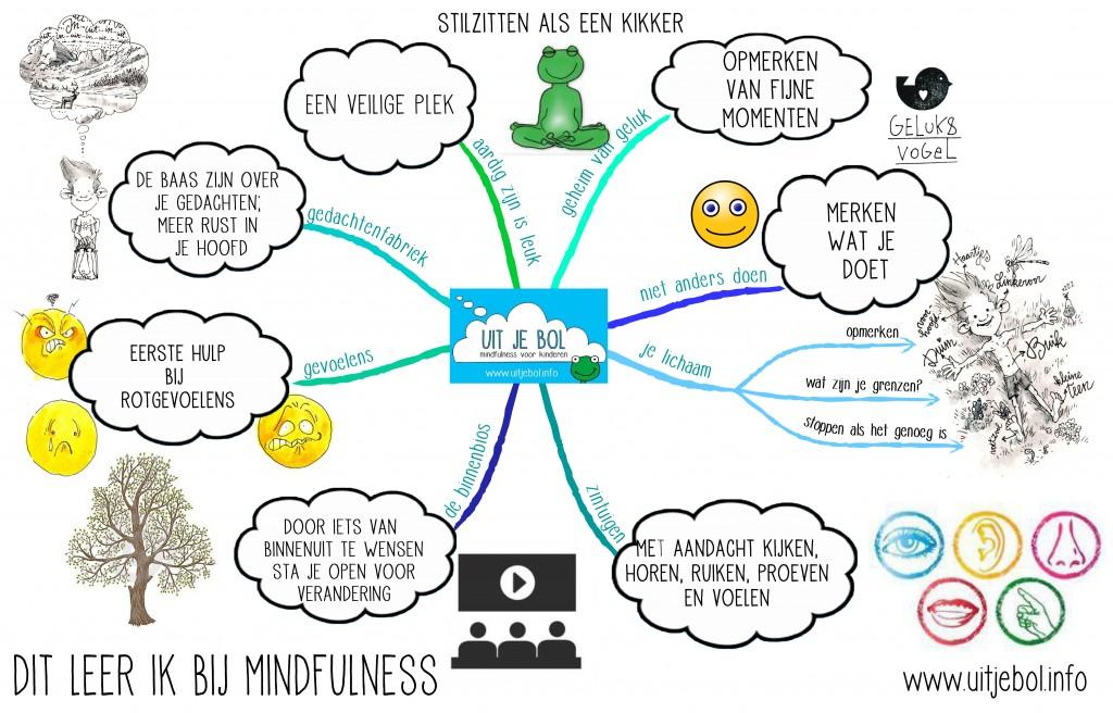 mindmap dit leer ik met mindfulness